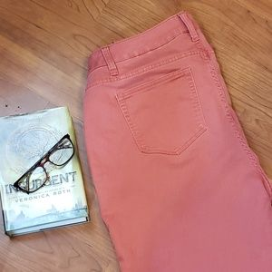 Pink/coral jeggings